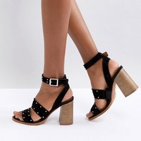 ASOS TESSIE Suede Studded Sandals at asos.com