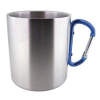 D-Ring Mug - Heat containing and cold containing super college mug for campus and dorm room use
