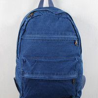 Multi Pocket Denim Backpack