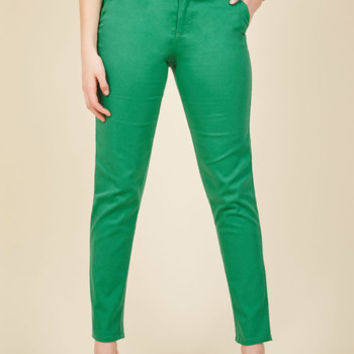 Ease of Versatility Pants in Clover | Mod Retro Vintage Pants | ModCloth.com