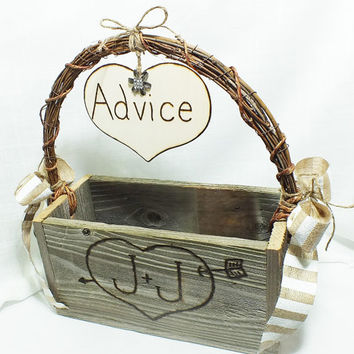 Personalized Wedding Advice Card Box