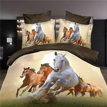 Galloping Horses 4pc Bed Set