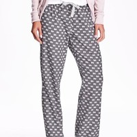 Old Navy Printed Flannel PJ Bottoms