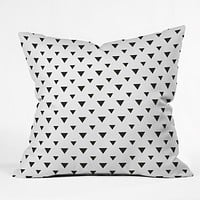 Allyson Johnson Upside Down Triangles Throw Pillow