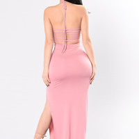 Be My Guest Dress - Dusty Rose