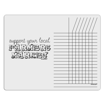 Support Your Local Farmers Market Chore List Grid Dry Erase Board