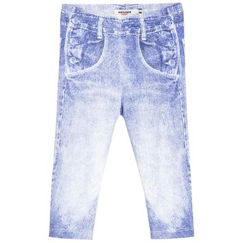 Junior Gaultier Baby Denim Print Leggings