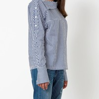 Unexpected Expected Stripe Shirt - Navy/White