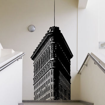 Vinyl Wall Decal Sticker Top of Flatiron Building #5225
