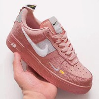 Nike Air Force 1 Low Tide brand deconstruction short version of men and women low-cut casual sports shoes Pink