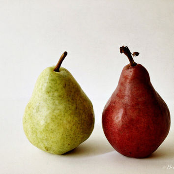 red, green, pear, food, fine art photography