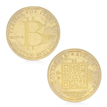 Peace Freedom Bitcoin Commemorative Coin Silver Plated