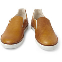 Maison Martin Margiela Leather Slip-On Sneakers | MR PORTER