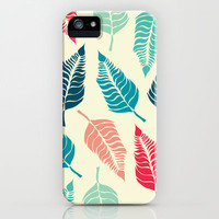 Leave Me Multi (Aqua Red) iPhone & iPod Case by Beth Thompson