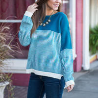 Run To You Sweater, Blue