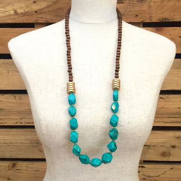 Betsy Pittard Designs- Angelica Necklace- Turquoise