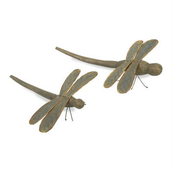 2 Dragonfly Figures - Handcrafted