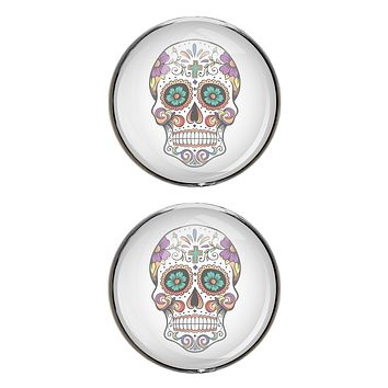Mexican Sugar Skull Stud Earrings