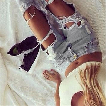 Women's Ripped Jeans Hot New Stylish Sexy Ladies Casual Skinny Faded Slim Fit Cool Denim Pants Boyfriend Hole Jeans Feminina