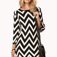 Striking Zigzag Sweater Dress