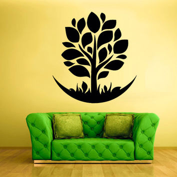 rvz843 Wall Vinyl Sticker Kitchen Decal Tree Circle