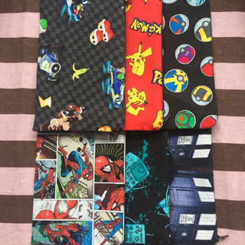 Fandom anime manga comic tv show nerd geek superhero video game Mario Nintendo dr who Pokemon Pokeballs pencil pouch ds case