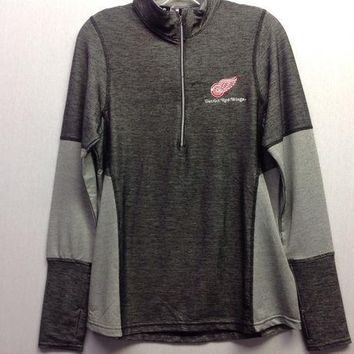 ESBON NHL Detroit Red Wings Women's Half Zip Pullover