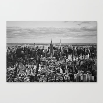 where dreams are made of (black and white) Canvas Print by kirasandland