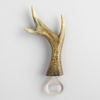Wood and Metal Antler Bottle Opener