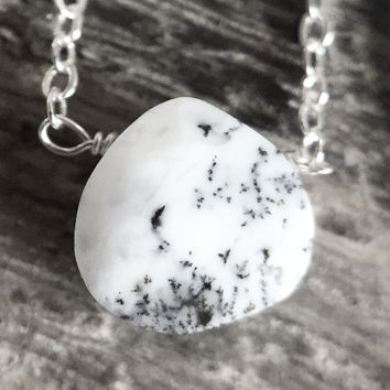 """27 - Dendritic Opal 18"""" Sterling Chain - Flash Sale Pricing"""