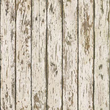 Brewster Wallpaper BBC13282 Harley White Weathered Wood