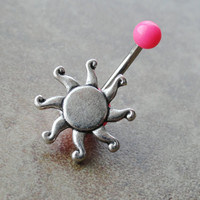 Celestial Sun Belly Button Ring Jewelry