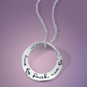 Live By Faith Not By Sight Sterling Silver
