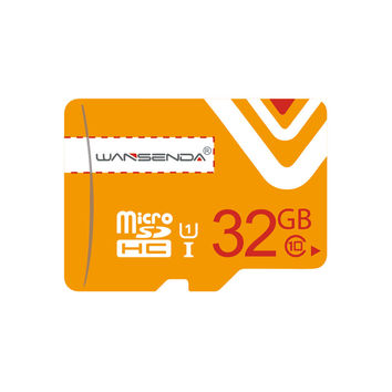 SALE Wansenda orange Memory Cards 8gb 16gb 32gb Micro sd TF card Micro SD Card Pen with free Adapter for Mobile Phone