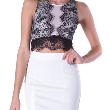 Something About You Crop Top - Black