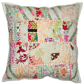 """24"""" Large Decorative Throw Pillow for Couch, Embroidered Cushion Cover, Ethnic Pillow, Cottage Pillow, Tribal Pillow Outdoor sofa pillow"""