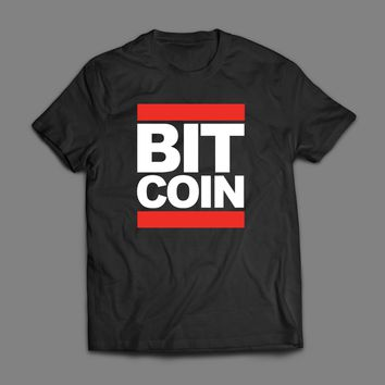 OLD SKOOL HIP HOP STYLE BIT COIN PARODY CUSTOM ART T-SHIRT