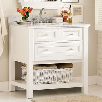 Classic Single Sink Console - White