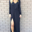Black Del Rio Long Sleeve Maxi Dress