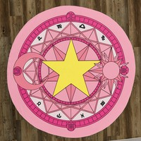 "Sakura's Magic Circle 60"" Round Microfiber Beach Towel"