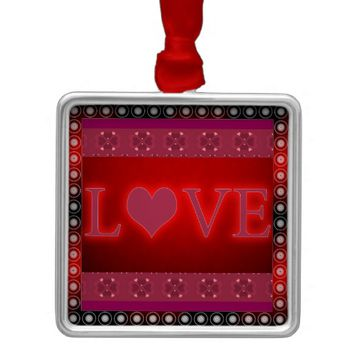 Love Metal Ornament
