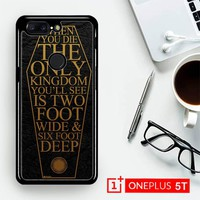 Bring Me The Horizon Coffin The House Of Wolves Quote F0353  OnePLus 5T / One Plus 5T Case