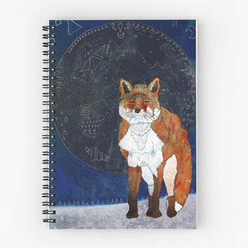 Lunar Kitsune - Spiral Notebook /// Fox Notebook, Fox Stationery, Fox Lover Gift, Art Notebook, Art Journal, Diary Book, Art Planner, School