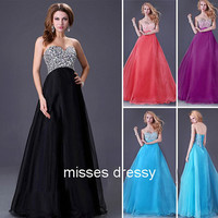 A-line Sweetheart sleeveless  Floor-length  tulle with Rhinestone Prom Dress/wedding dresses/party dress/homecoming dresses
