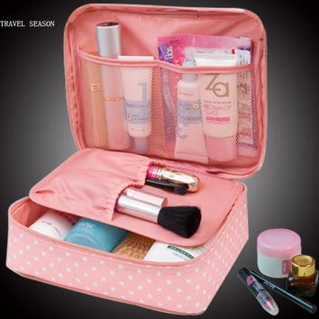 Zipper Makeup bag Cosmetic beauty Case Make Up Organizer Toiletry bag kits Storage Travel Wash pouch
