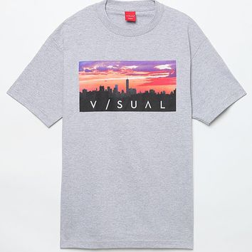 Visual by Van Styles Purple Haze T-Shirt - Mens Tee - Grey