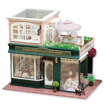 DIY Dollhouse - Paris Coffee and Cake Shop - 🇫🇷☕🏠🍰🥐