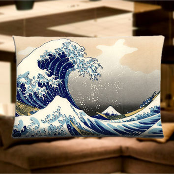 "The Great Wave Off Kanagaw Pillow Case Cover Bedding 30"" x 20"" Great Gift"