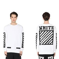 OFF-White Woman Men Fashion Top Sweater Pullover Hoodie