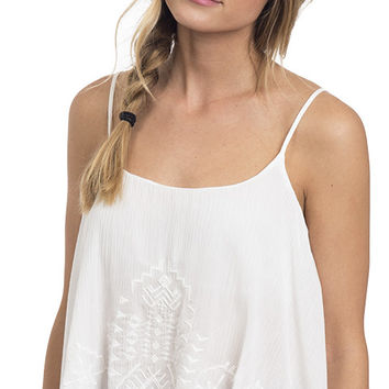 Sahara Summer Embroidered Hanky Cami Top